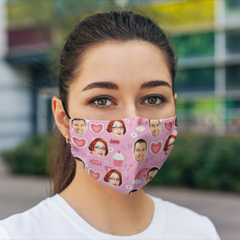 Comfort Hexa Cotton Face Mask Valentine Cupcake