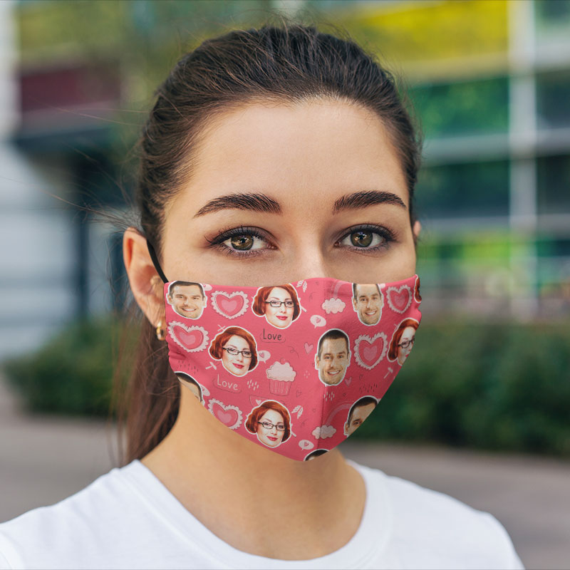 Comfort Hexa Cotton Face Mask Valentine Cupcake