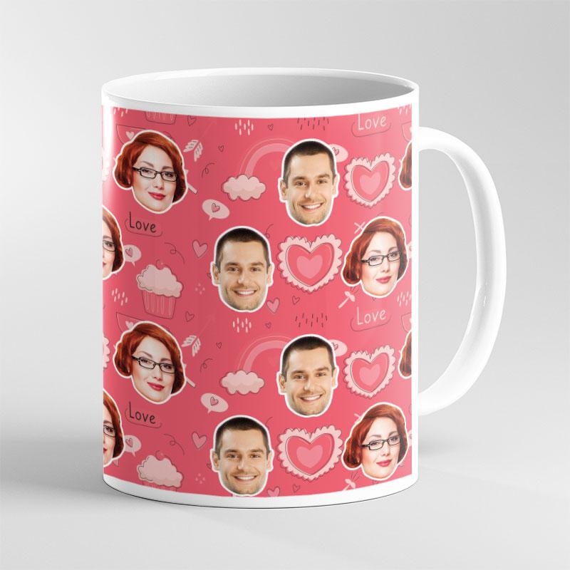 Face Mug Valentine Cupcake