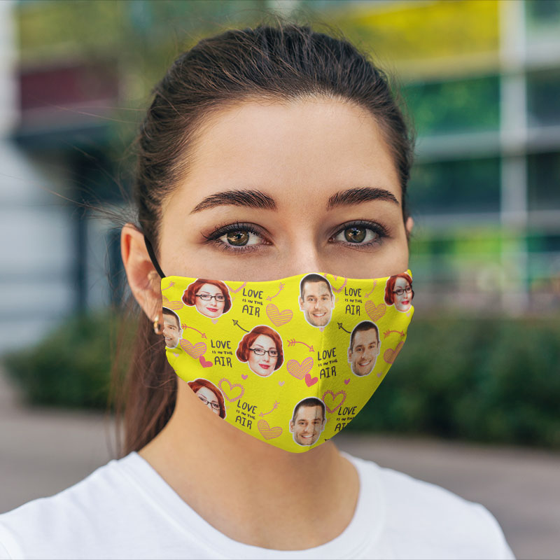 Comfort Hexa Cotton Face Mask Valentine Love Air