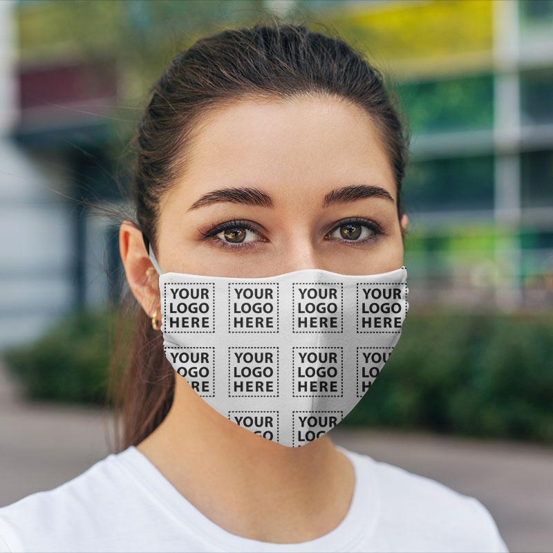 Customized Hexa corporate Logo Here Face Mask