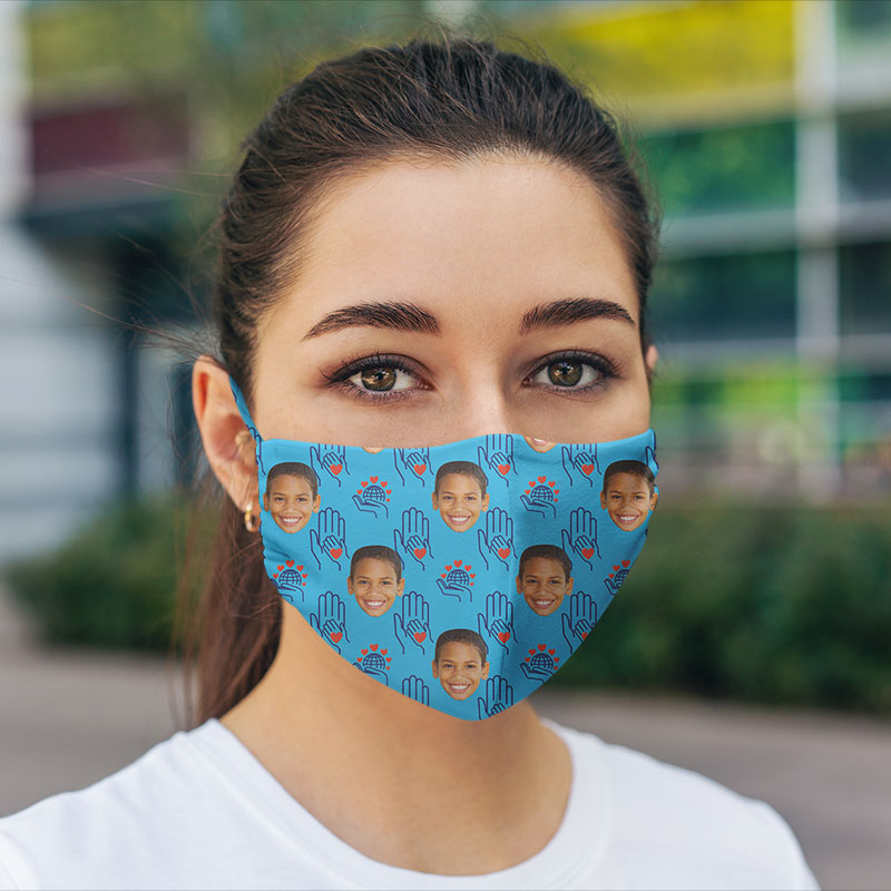 Personalized Hexa Charity Face Mask