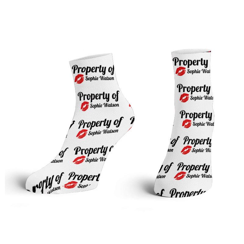 """Property Of"" Printed Ankle Socks"