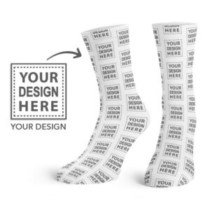 Custom Your Design Here Crew Socks