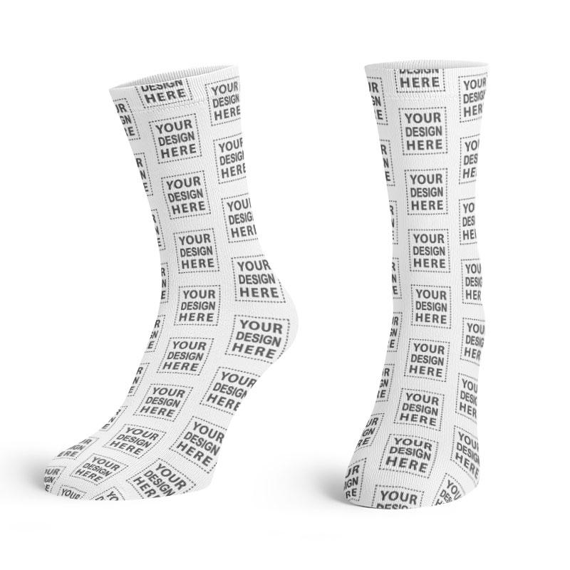 Custom Your Design Here Crew Socks