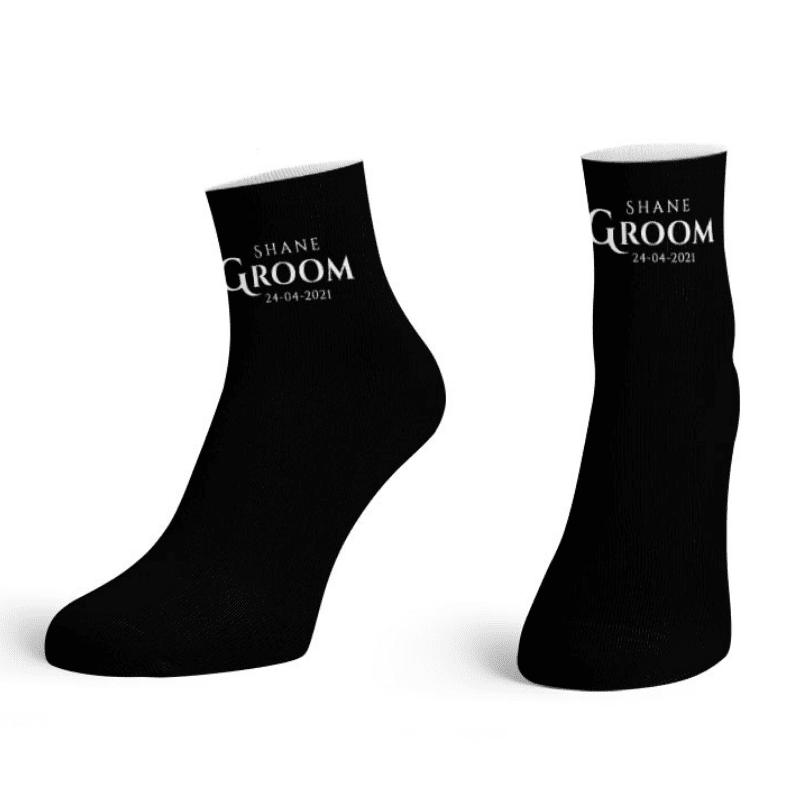 """""""Groom-To-Be"""" Printed Ankle Socks"""