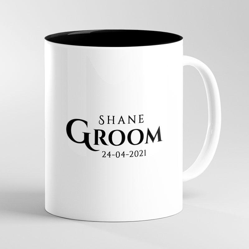 Personalised Wedding Groom-To-Be Mug