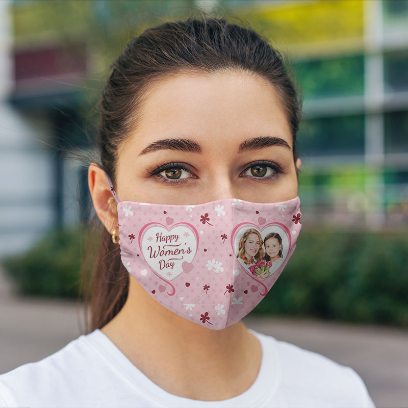 Pocket Hexa Cotton Women Face Mask