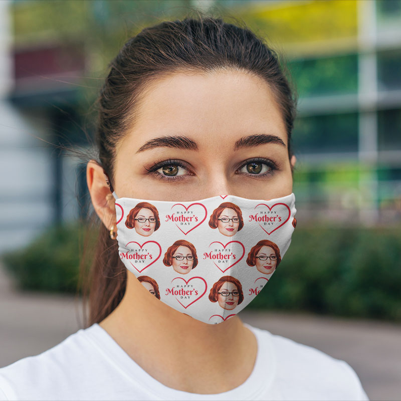 Customized Hexa Mother's Day Face Mask