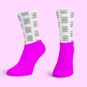 Pink Cotton Base Crew Socks