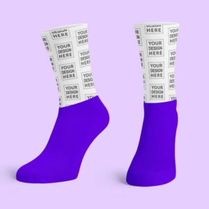 Purple Cotton Base Crew Socks