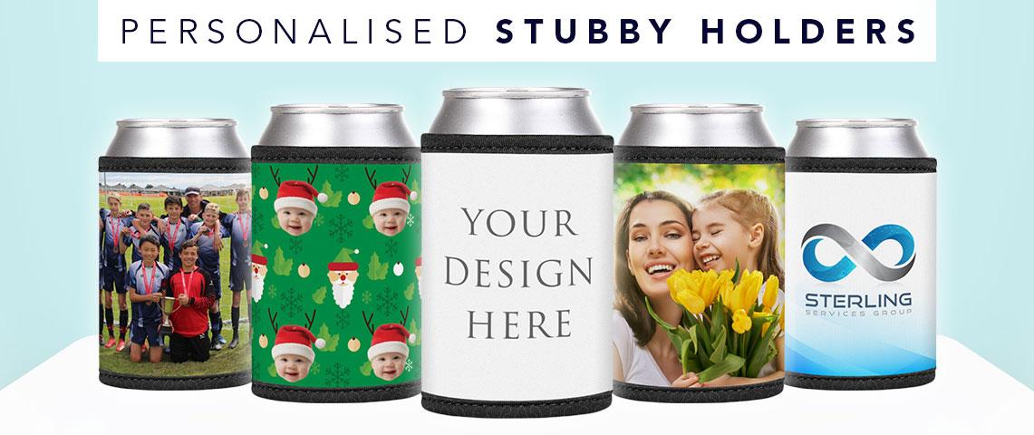 Personalised stubby holders by printyo